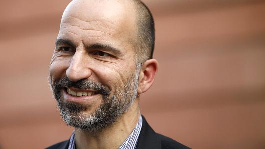 Dara Kowsrowshahi, chief executive officer of Uber Technologies Inc., looks on following an event in New Delhi, India, on Thursday, Feb. 22, 2018.
